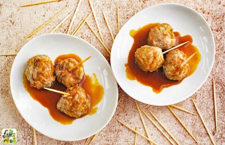 Asian Style Gluten Free Meatballs