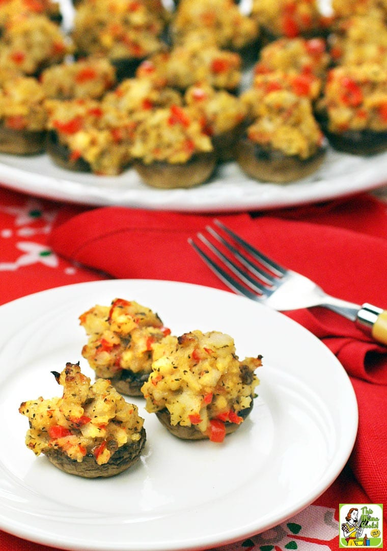 Crab Stuffed Mushrooms - This crab stuffed mushroom recipe is gluten free.