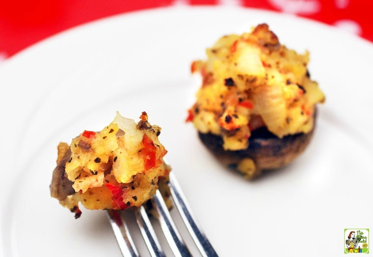 This crab stuffed mushroom recipe is easy to make.