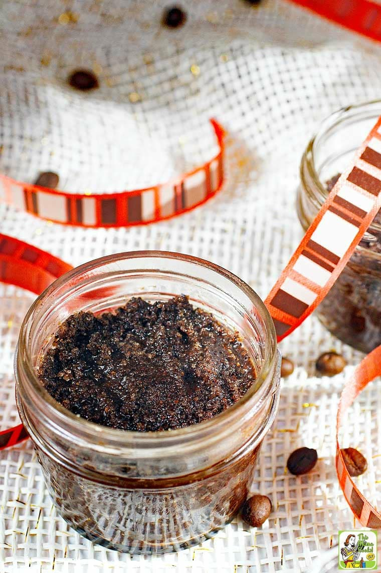 DIY Coffee Scrub - make a variety of coffee scrub recipes as homemade gifts.