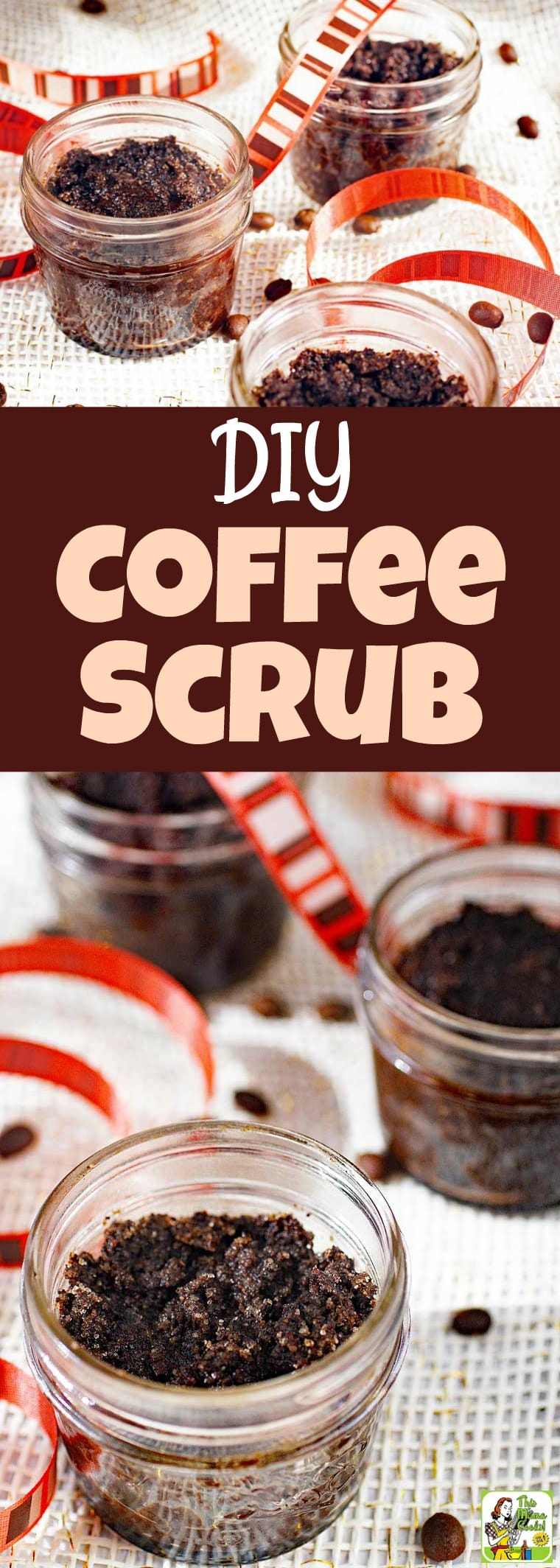 DIY Coffee Scrub - this easy coffee scrub recipe makes a terrific homemade gift. This coffee body scrub exfoliates, reduces the appearance of cellulite, and leaves your skin feeling soft! #recipe #easy #recipeoftheday #coffee #DIY #DIYgifts #coconutoil #sugarscrub