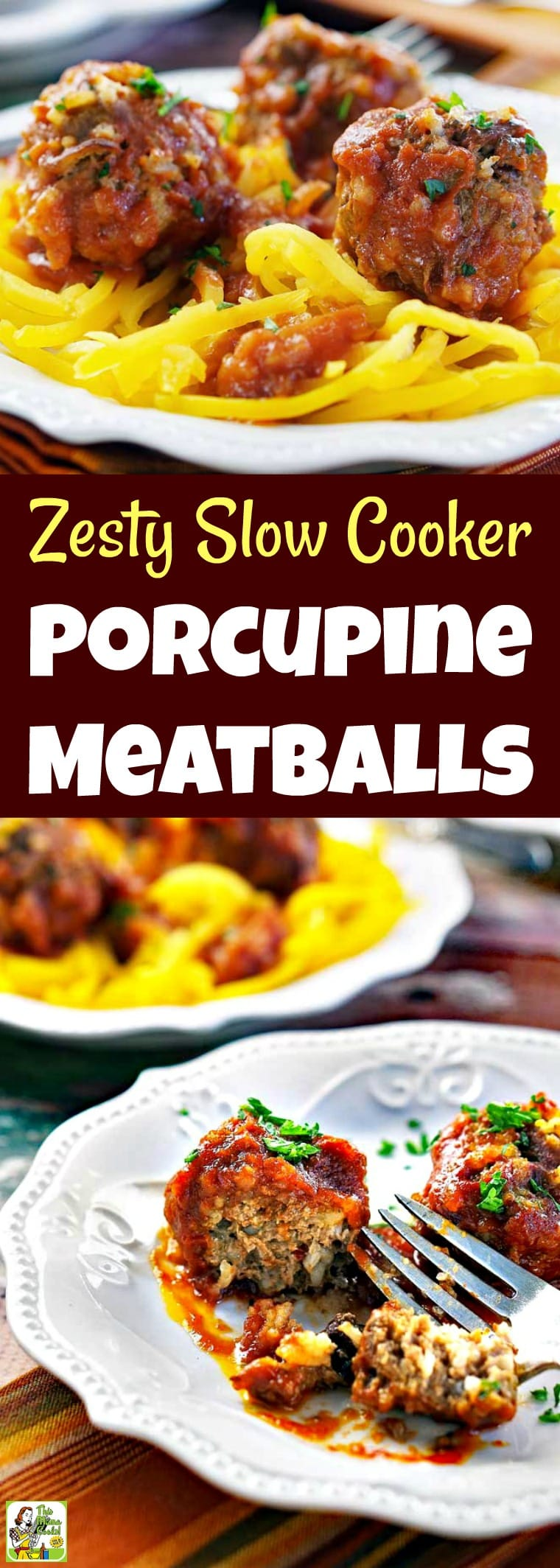 Love Porcupine Meatballs? Then you\'ll love this Zesty Slow Cooker Porcupine Meatballs recipe. Double the porcupine balls recipe, defrost overnight, and cook up in your crock-pot for an easy dinner! These Cajun flavored meatballs are gluten free and made with ground beef. #recipe #easy #recipeoftheday #healthyrecipes #glutenfree #easyrecipes #dinner #easydinner #slowcooker #crockpot #meatballs #groundbeef #comfortfood