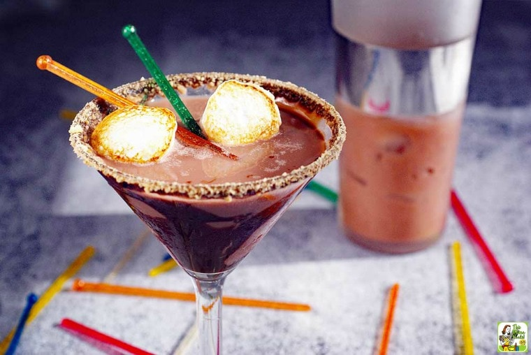 S'mores Martini served with toasted marshmallows