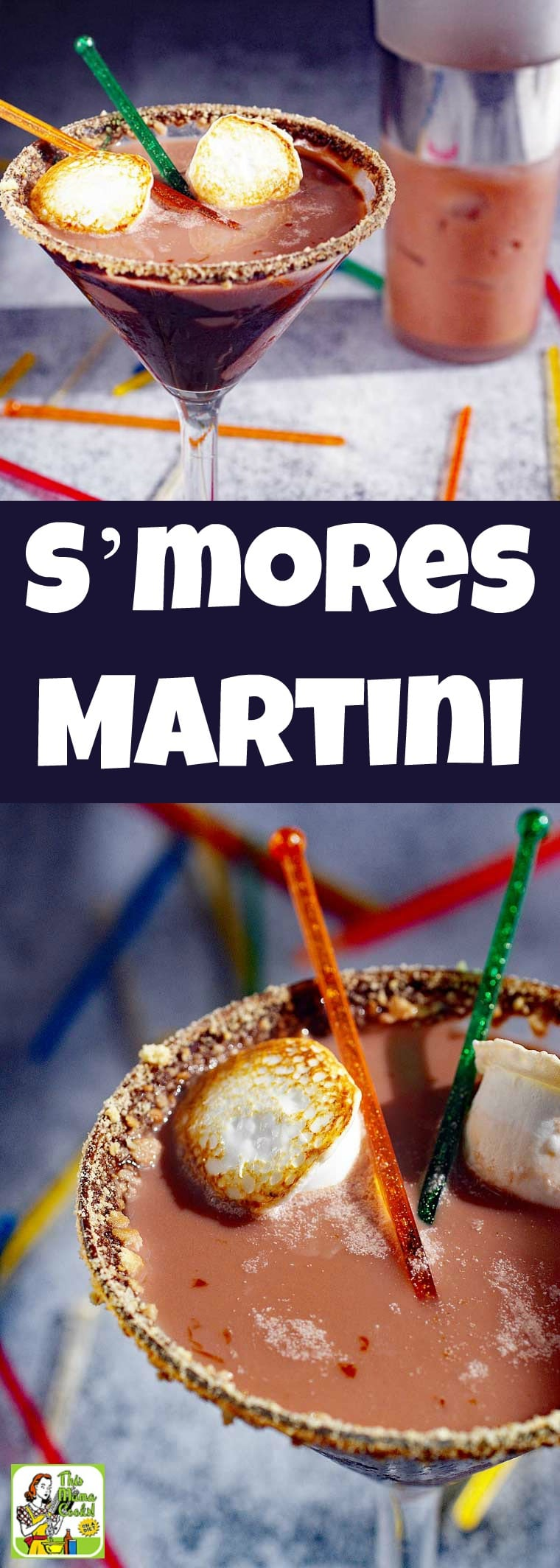 A S'mores Martini is a chocolate martini recipe that tastes like making s'mores and roasting marshmallows over a campfire. It\'s made with marshmallow vodka, chocolate coconut milk and is dairy free and gluten free. It\'s the ultimate chocolate martini cocktail drink for Christmas, New Year\'s Eve or Valentine\'s Day. #recipe #easy #recipeoftheday #glutenfree #drinks #cocktails #Christmas #NewYearsEve #chocolate #martini #cocktailrecipe #drinkrecipe #dairyfree #smores #vodka #vodkacocktail