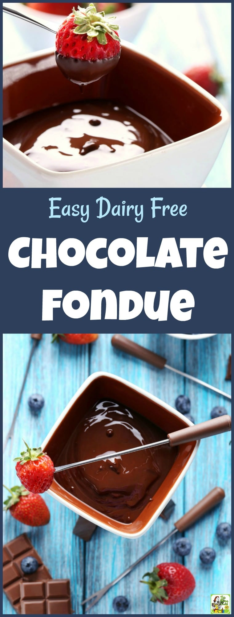 Love chocolate but can\'t have dairy? This Easy Dairy Free Chocolate Fondue is made with coconut cream and dairy free semi-sweet chocolate chips. Great for Valentine\'s Day, Mother\'s Day or a romantic evening at home! #recipe #easy #recipeoftheday #healthyrecipes #glutenfree #easyrecipes #desserts #dessertrecipes #dessertideas #chocolate #fondue #chocolatefondue #valentinesday #mothersday #chocolaterecipes