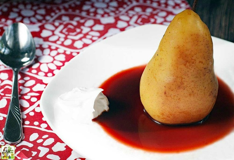 Slow Cooker Poached Pears