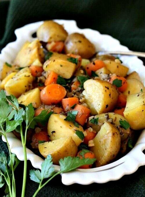 Vegan Instant Pot Recipes - potatoes and carrots