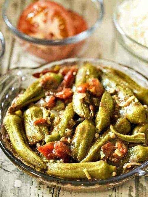 Vegan Instant Pot Recipes - cooked okra