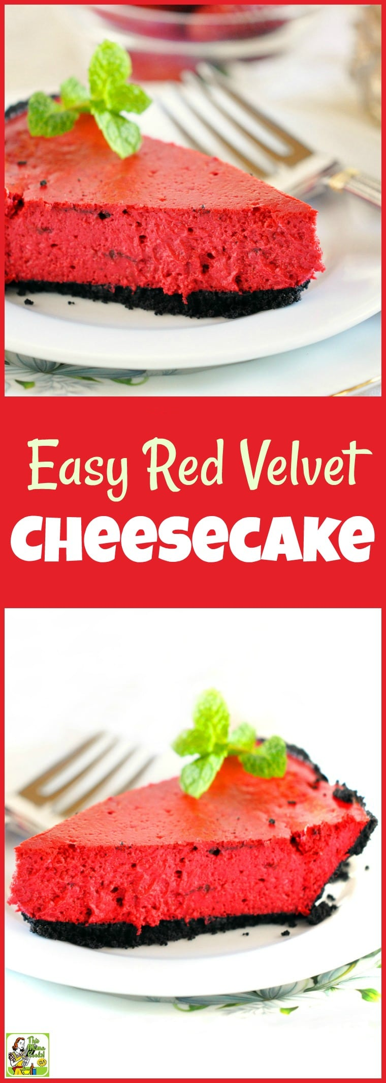 Looking for an Easy Red Velvet Cheesecake recipe? Make this simple and healthy red velvet dessert recipe for Valentine\'s Day, Christmas or Fourth of July. Gluten free and dairy free options. Diabetic friendly. #recipe #easy #recipeoftheday #healthyrecipes #glutenfree #easyrecipes #desserts #dessertrecipes #dessertideas #baking #bakingrecipes #easybaking #cake #cakerecipes #cheesecake #cheesecakerecipes #redvelvet #redvelvetcake #diabeticrecipes #diabeticlifestyle #diabetic #diabeticliving