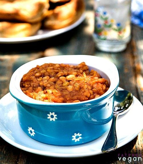 Vegan Instant Pot Recipes - lentils in a bowl