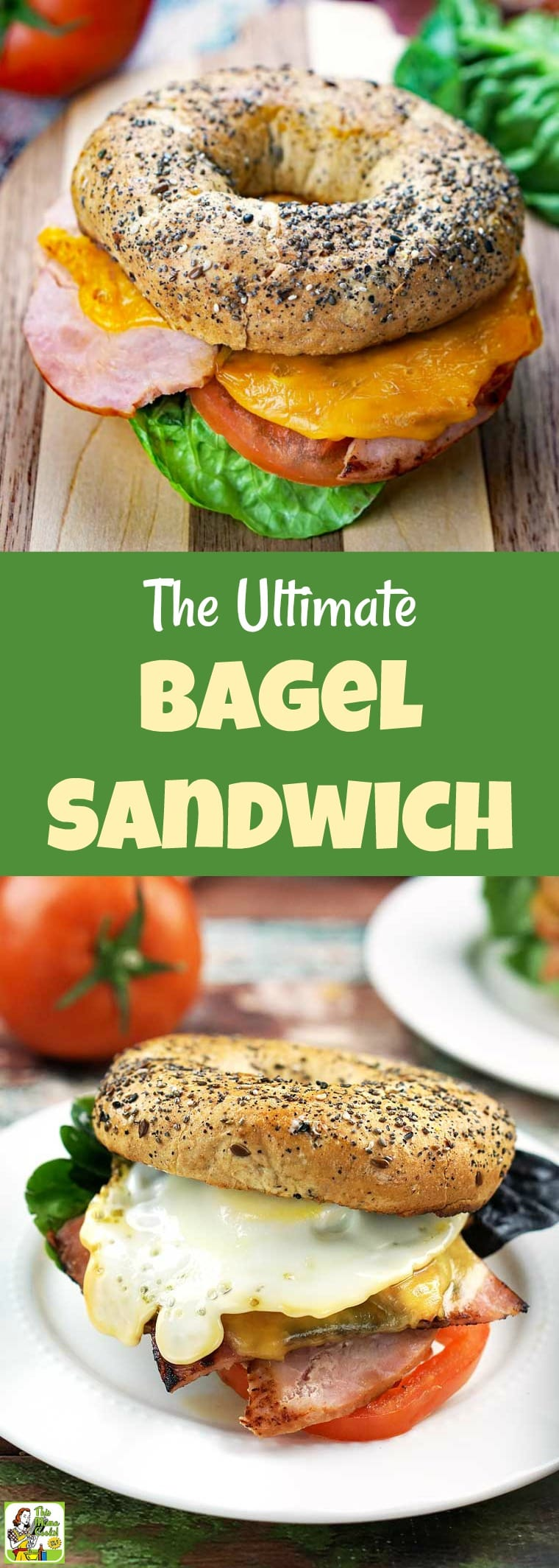 This Ultimate Breakfast Bagel Sandwich comes with tips on how to make a breakfast bagel egg sandwich. #recipes #recipesforone #recipeoftheday #glutenfree #easyrecipes #breakfast #lunch #lunchrecipes #sandwiches #sandwichrecipes #bagels