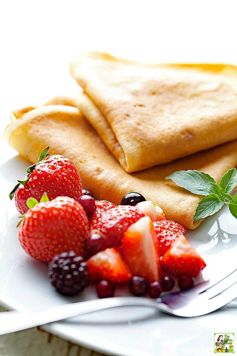 This easy crepe recipe is gluten free.