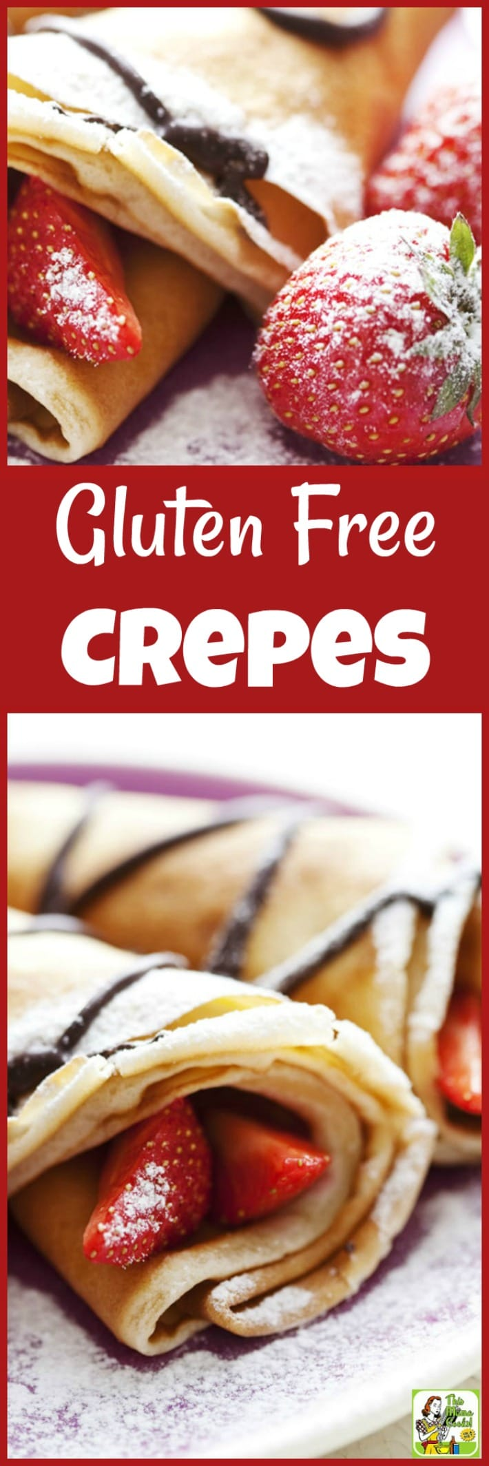 Serve Gluten Free Crepes for Valentine\'s Day,  Pancake Tuesday or Mother\'s Day. It\'s also a paleo crepe recipe with a few substitutions. #pancaketuesday #recipes #recipeoftheday #healthyrecipes #easyrecipe #easyrecipe #breakfast #brunch #dessert #dessertrecipes #crepes #pancakes #pancakerecipes #pancakesfromscratch #pancakeday #crepesrecipe