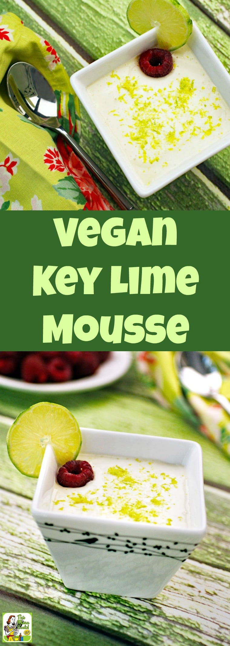 This vegan mousse is so delicious you\'d never know it\'s made with tofu. Vegan Key Lime Mousse is also sugar-free and gluten-free. #vegan #veganrecipes #vegandesserts #mousse #recipe #easy #recipeoftheday #healthyrecipes #glutenfree #easyrecipes #desserts #dessertrecipes #dessertideas #lime #keylime #tofu #sugarfree