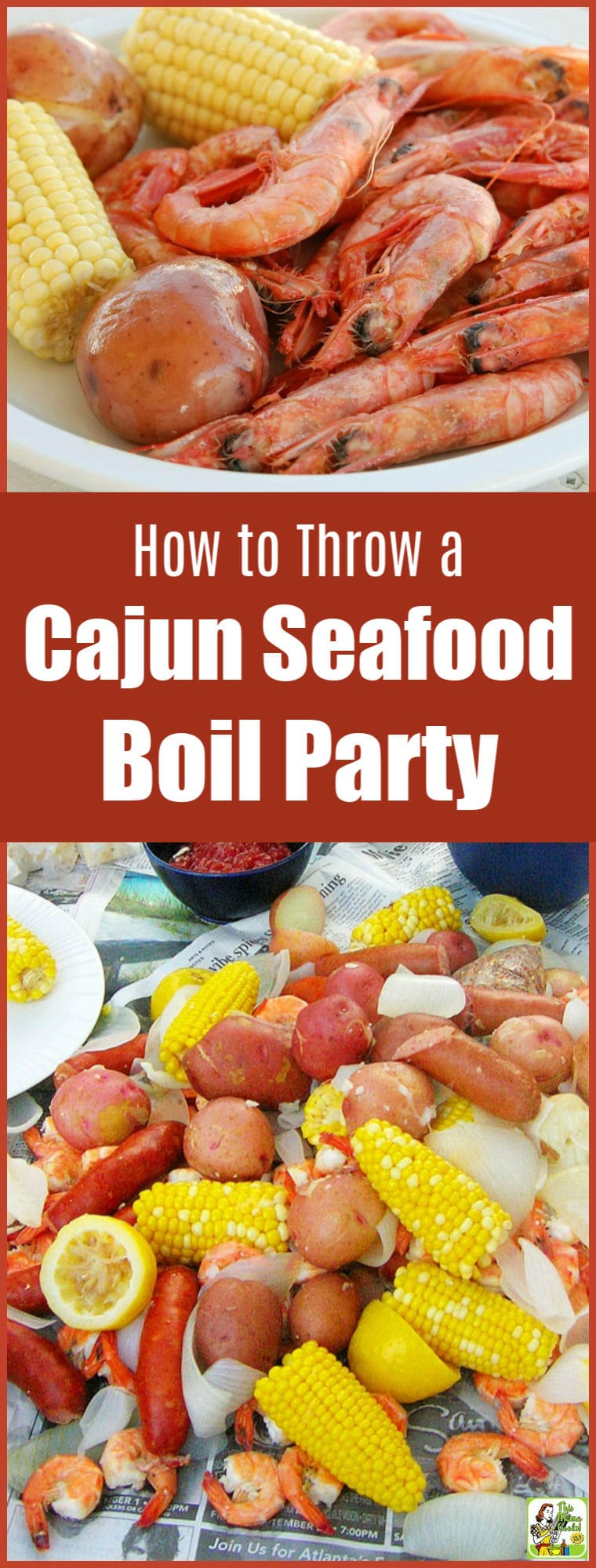 Learn how to throw a Cajun seafood boil party. It's fun! Get tips on equipment, best Cajun seasoning, where to buy crawfish, and what kind of seafood, sausage, and vegetables to use. #recipe #recipes #party #partyfood #seafoodrecipes #seafood #crawfish #shrimp #shrimprecipes #mardigras #glutenfree