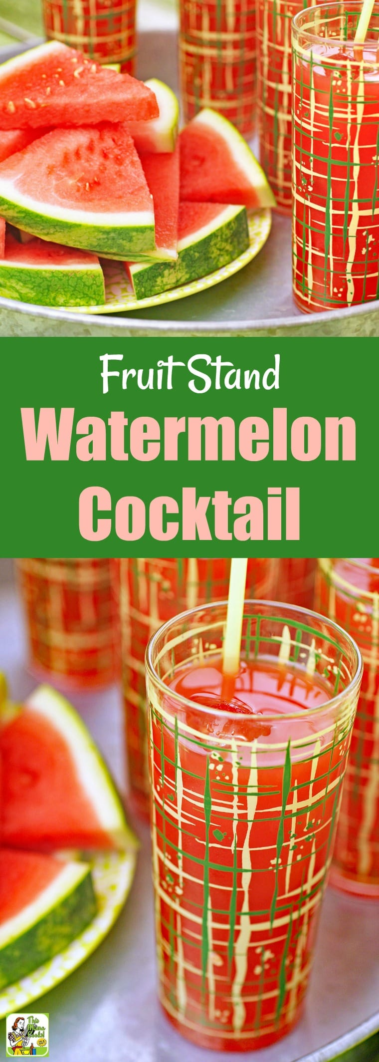 Sit a spell and relax with a Fruit Stand Watermelon Cocktail. There's nothing more refreshing than sipping on a watermelon drink recipe when it's warm out. #watermelon #fruit #recipes #easy #recipeoftheday #easyrecipes #cocktails #cocktail #drinks #drinking #alcohol #whiskey #peach