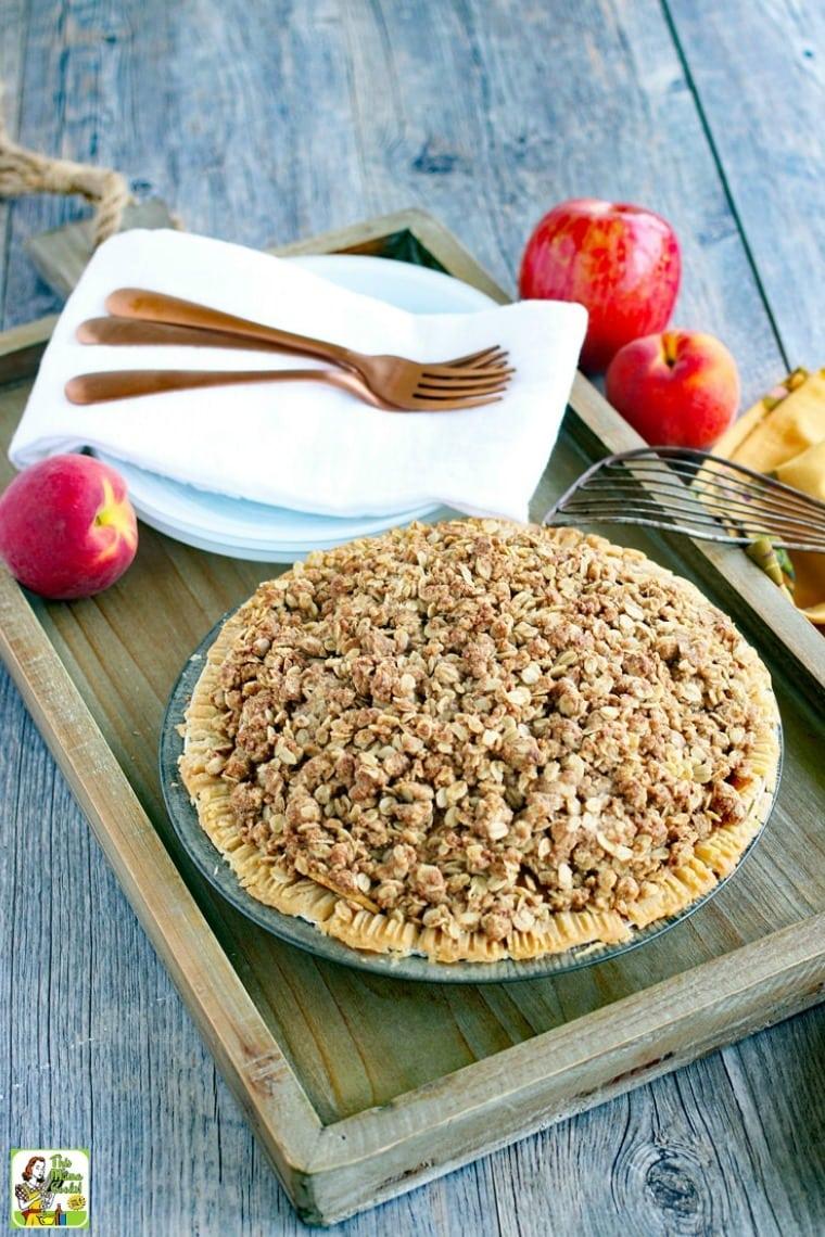 Make this apple peach pie dairy-free or vegan