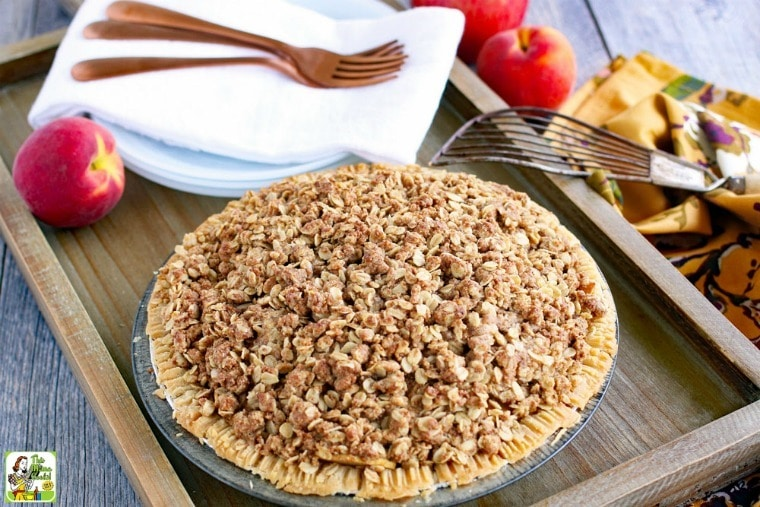 Apple Peach Pie with Oatmeal Crumb Topping