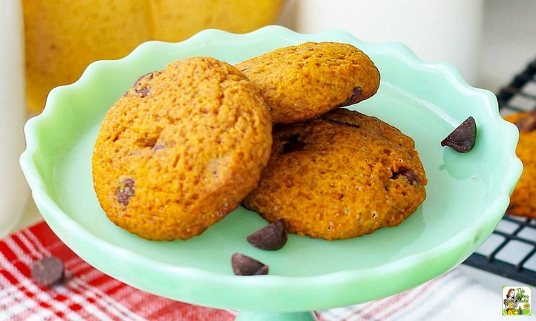 Eggless Chocolate Chip Cookies with Pumpkin