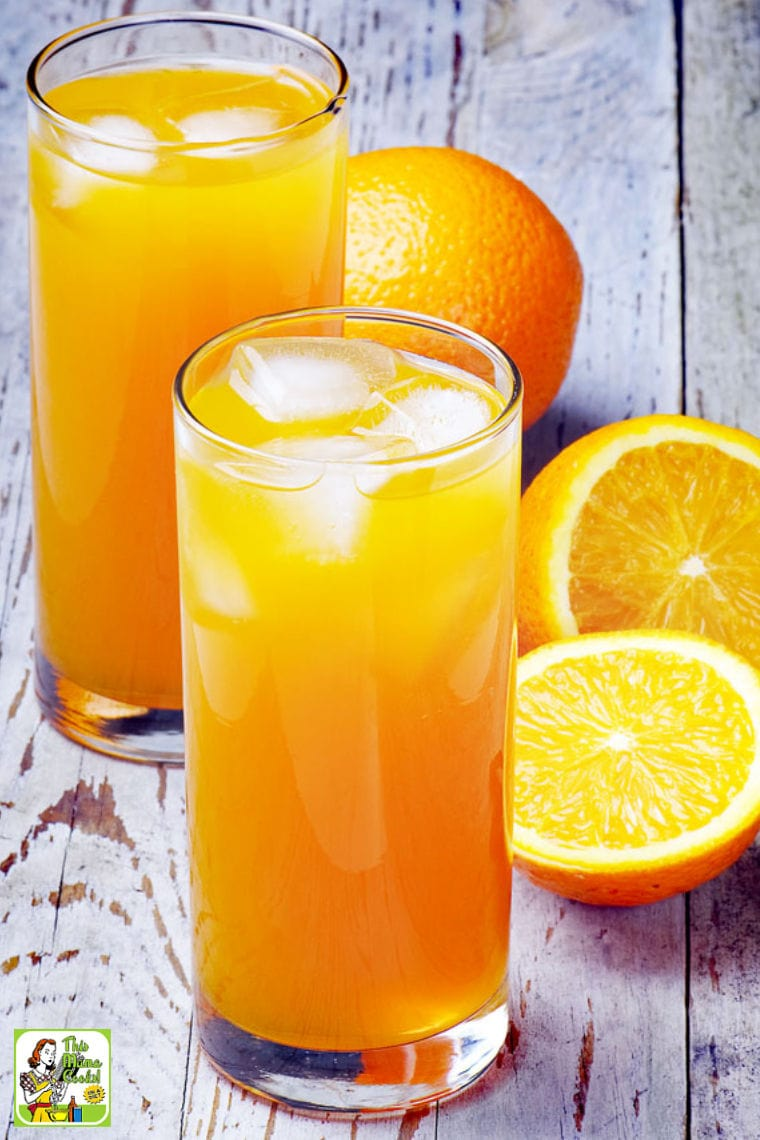 Learn how to make an orange blossom mocktail recipe