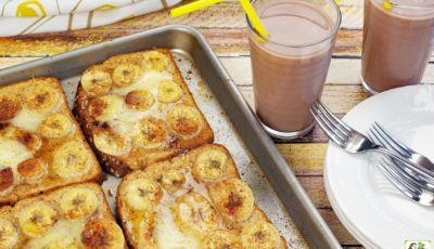 Oven Baked French Toast with Pumpkin & Bananas