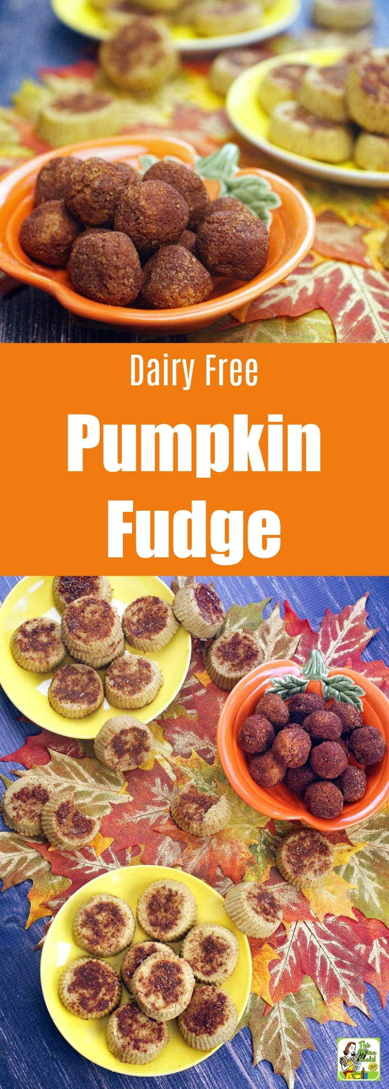 This Dairy Free Pumpkin Fudge recipe is gluten-free, dairy-free, vegan, and low in sugar. Can be made into fudge balls or mini pies. No marshmallow cream or condensed milk for a wholesome pumpkin spice treat. #recipe #easy #recipeoftheday #healthyrecipes #glutenfree #easyrecipes #snack #snacks #dessert #dessertrecipes #pumpkindessert #pumpkinrecipe #pumpkin #pumpkinspice #pumpkindessert #halloween #thanksgiving #fudge #vegan #veganfood #veganrecipes #dairyfree