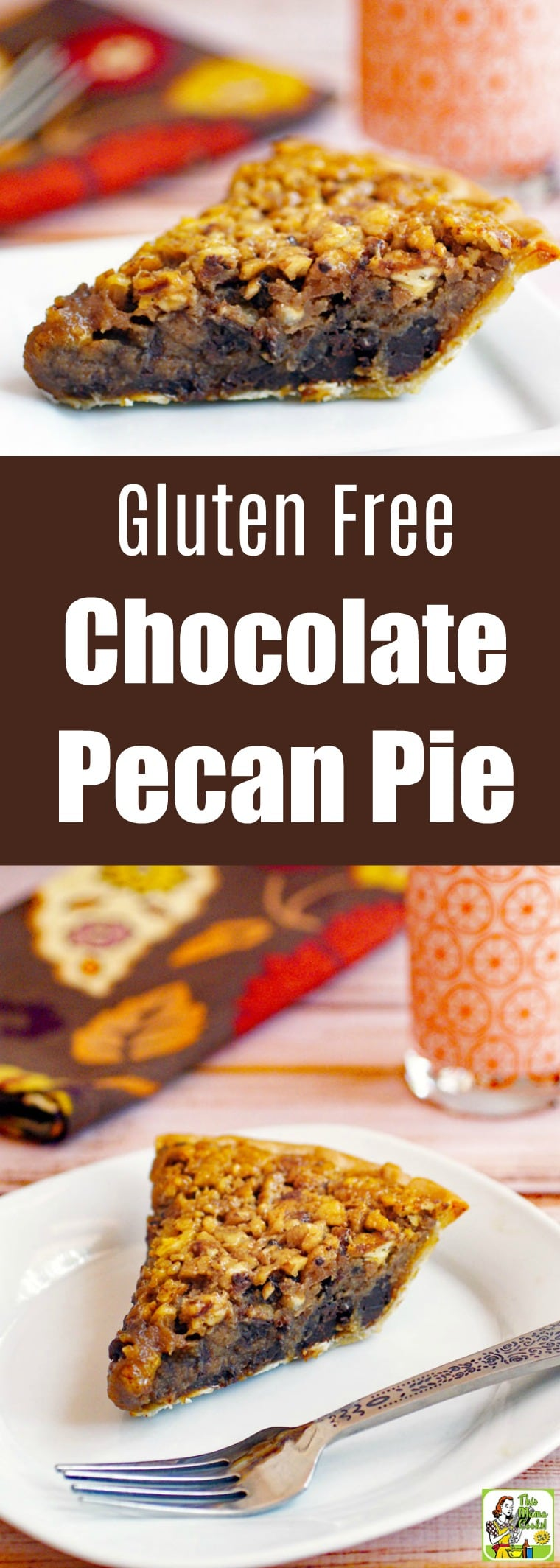 This Gluten Free Chocolate Pecan Pie is a classic Thanksgiving dessert made even better. This gluten free and dairy free pecan pie is baked up with chocolate, bourbon, and sorghum. Comes with tips on how to make it a vegan pecan pie. #recipes #easy #recipeoftheday #glutenfree #easyrecipe #easyrecipes #glutenfreerecipes #desserts #dessertrecipes #baking #pie #thanksgiving #thanksgivingrecipes #dairyfree #chocolate #veganfood #vegan #veganrecipes #vegandesserts #bourbon #pecan