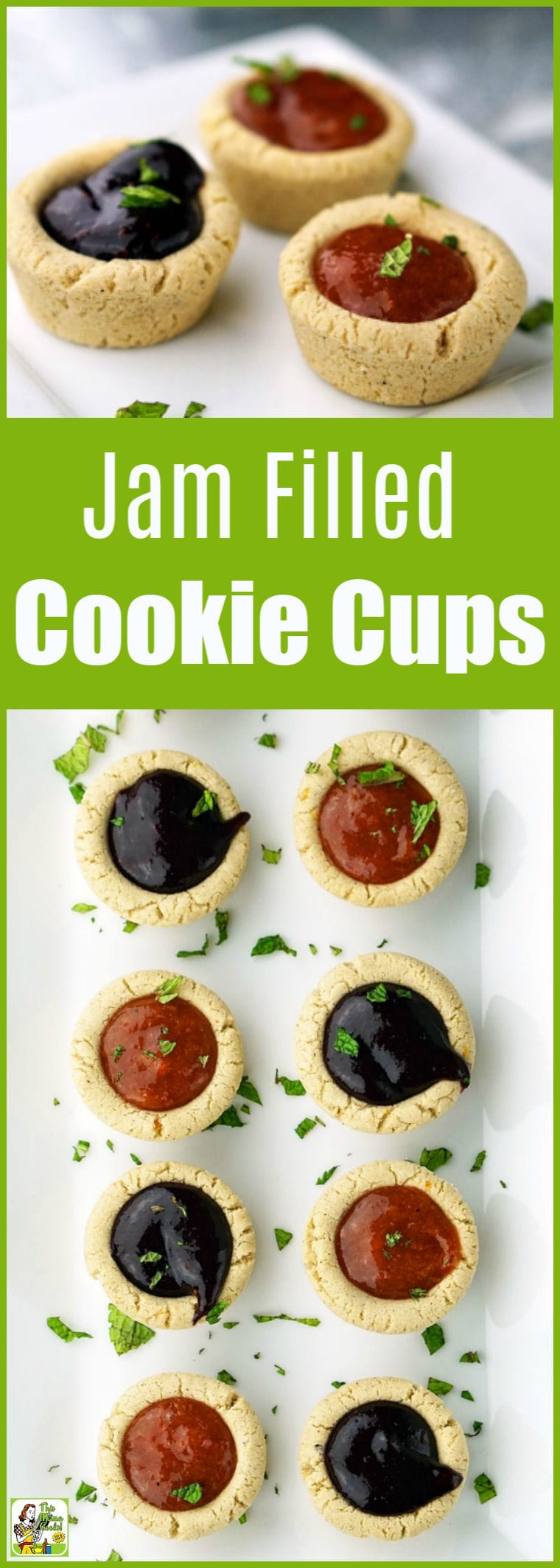 Fruit Filled Cookie Cups