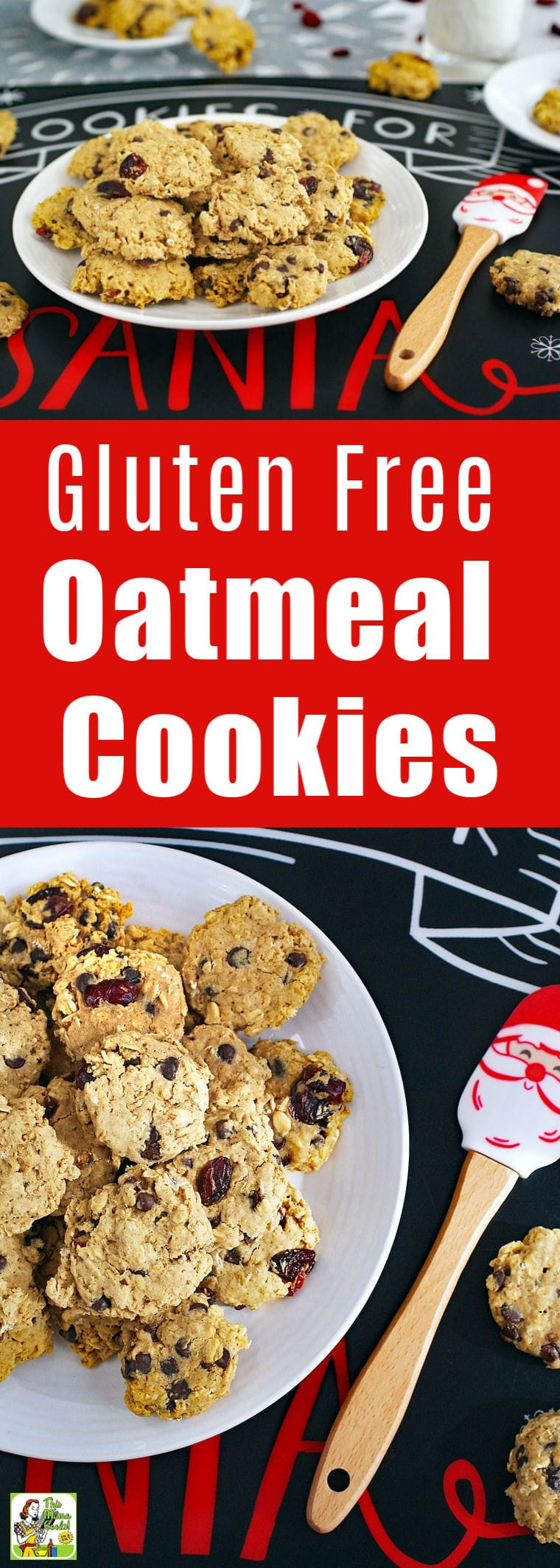 Gluten Free Oatmeal Cookies for Cookie Swaps is the best oatmeal raisin cookie recipe for Christmas cookie exchanges and homemade holiday gifts. By adding ingredients like cranberries, chocolate chips or raisins, you can make a variety of gluten-free oatmeal cookies. These holiday cookie swap cookies are also dairy free. #glutenfree #dairyfree #cookies #cookieswap #cookieexchange #baking
