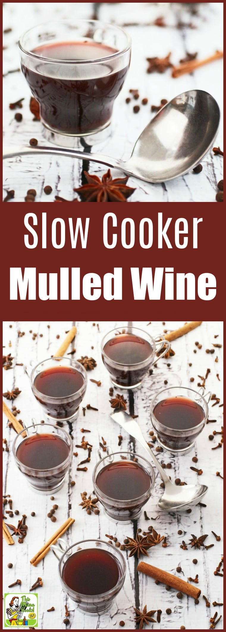 Make Slow Cooker Mulled Wine for your holiday parties. This easy to make holiday party cocktail can be made and served in your Crock-Pot. Your guests will love warming up with this delicious spiced wine holiday drink recipe. #slowcooker #crockpot #wine #cocktails #cocktailrecipes #drinks #drinking