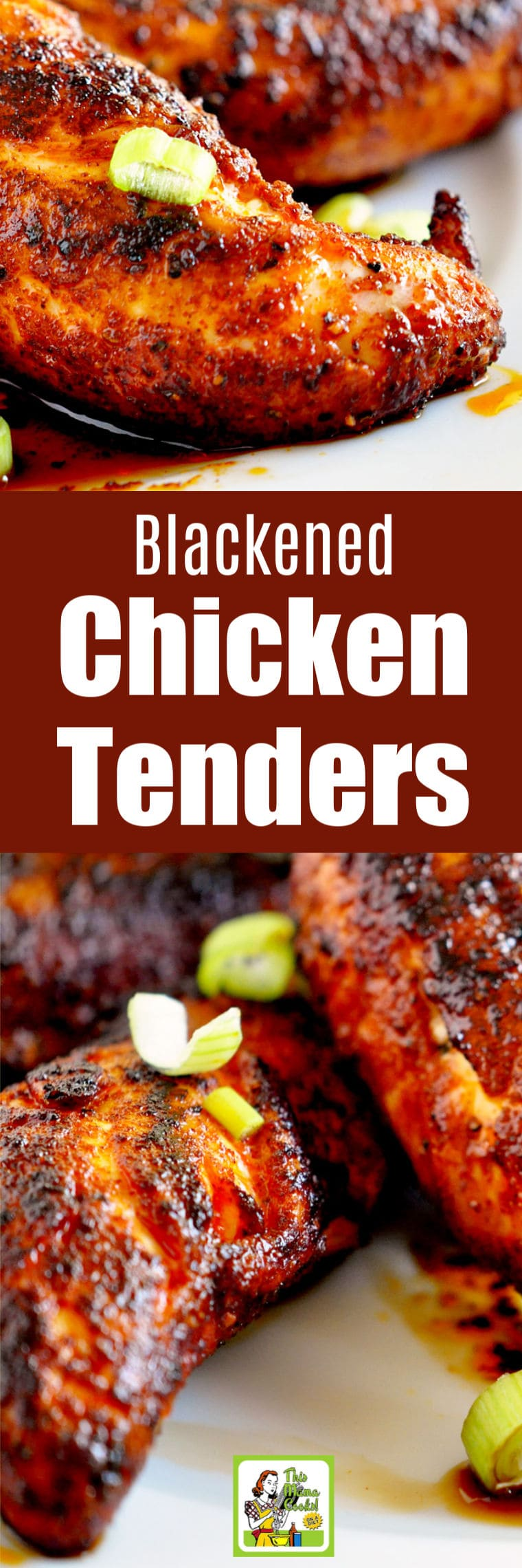Your family will love these Blackened Chicken Tenders. This healthy dinner recipe makes a tasty party appetizer, too. #recipe #healthyrecipes #glutenfree #easyrecipes #chicken #dinner #easydinner #appetizers #chickenrecipes #chickenfoodrecipes