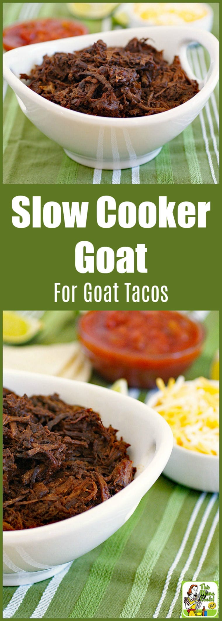 This Slow Cooker Goat recipe makes amazing shredded beef & chicken, too! This crock-pot shredded goat recipe is easy to make and healthy. #slowcooker #crockpot #goatrecipes #recipe #recipes #goatmeat #goatmeatrecipes #healthyrecipes