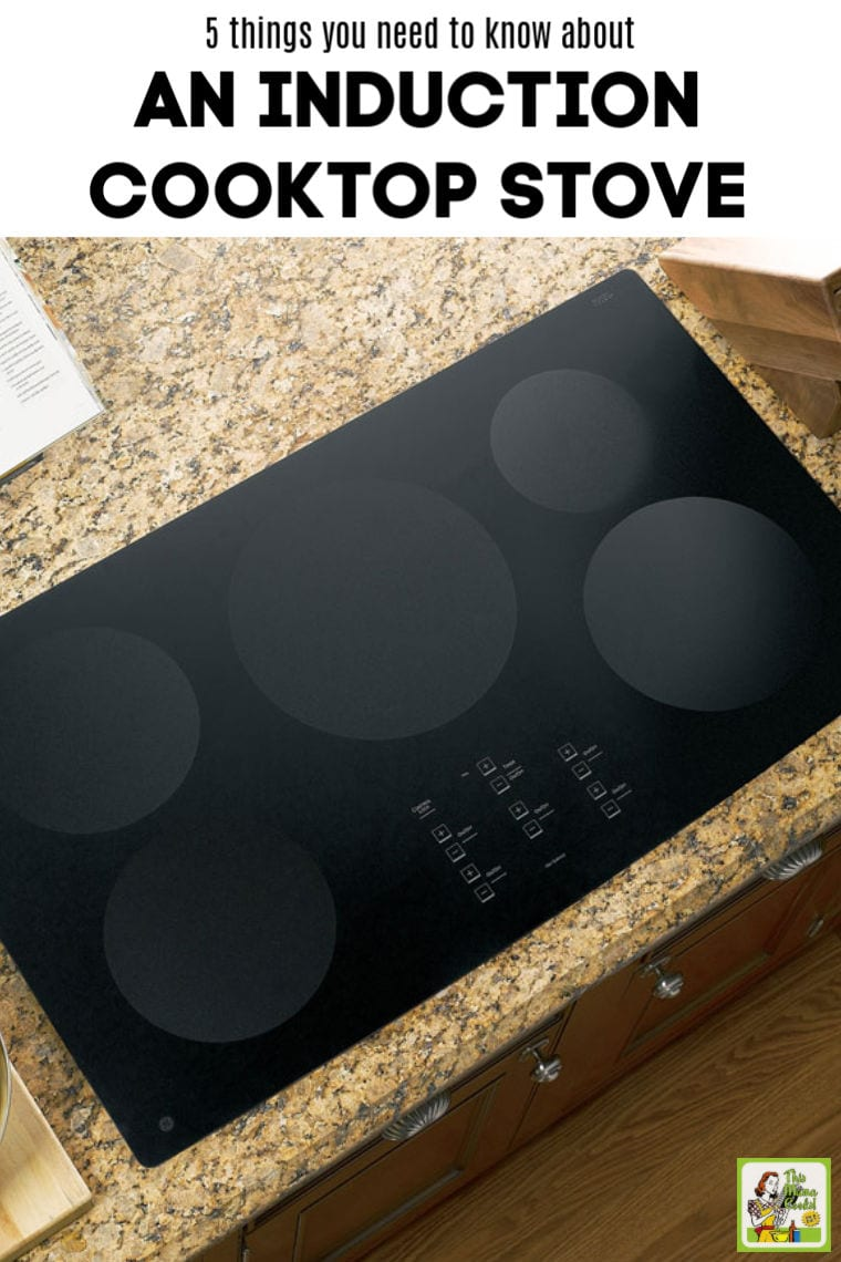 Remodeling and thinking about buying an induction cooktop stove? Here are 5 things you need to know about an induction cooktop stove. Includes tips on the best cleaning products for induction stoves, installation, and what type of induction cookware to buy. Information on induction cooktop stove models and induction ranges. #appliances #remodeling #stoves #InductionCooking #InductionCooktop #kitchen