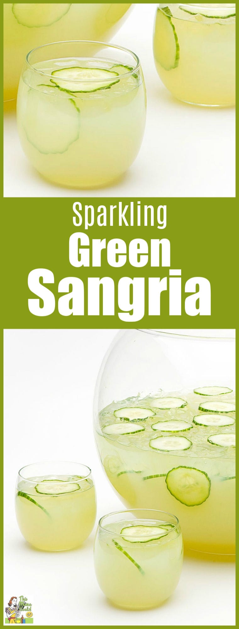 Looking for a green drink alternative to yucky green beer? Try this refreshing gluten free Sparkling Green Sangria recipe for St. Patricks Day. It\'s a skinny green cocktail alternative! Your party guests will love this green drink alcohol recipe! #stpatricksday #green #cocktails #cocktailrecipes #drinks #drinking #sangria #glutenfree