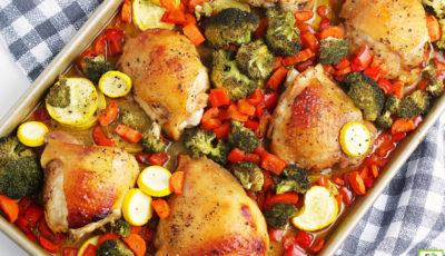 Sheet Pan Chicken Thighs Recipe.