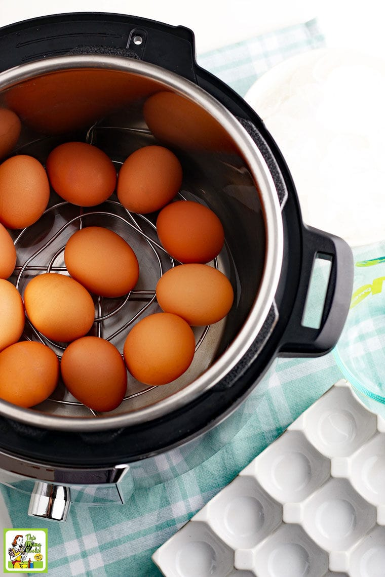 Cooking hard boiled eggs in an Instant Pot.