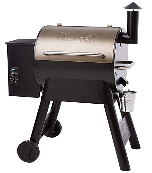 A Traeger Grills Pro Series 22 Electric Wood Pellet Grill and Smoker.